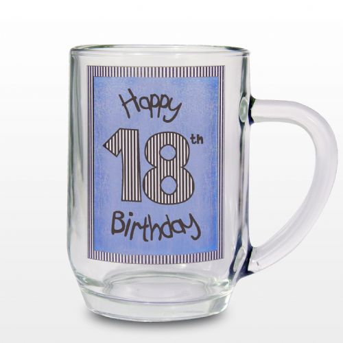 Blue 18th Happy Birthday Tankard Gift Keepsake